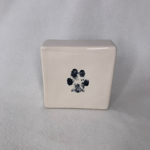 Rae Dunn Paw Print Life is Better Dog Paperweight